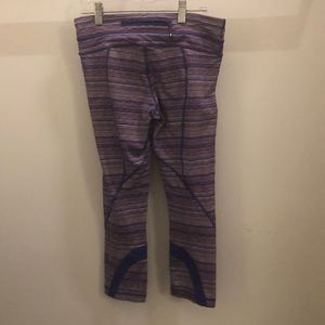 lululemon athletica Pants - Lululemon pink & purple run inspire crop sz 6